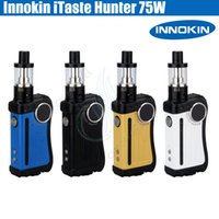 Wholesale Hunters Box - 100%Original Innokin iTaste Hunter Kit 75W TC Box Mod iSub V Vortex atomizer 5ml tank OLED screen cool fire IV Vapor mods e cig Vape pen DHL