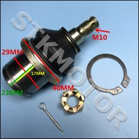 Wholesale Rod End Ball - Wholesale- HISUN 500CC 700CC HS500 HS700 ATV UTV QUAD Tie Rod End Ball Joint with Scew nuts pin and Circle