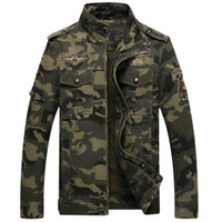 Wholesale Camouflage Winter Coats For Men - Camouflage Mens Jackets Cotton For Autumn Winter Coat Stand Collar Casual Printing Coats for Male Clothes