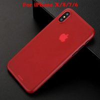 Wholesale Tpu Material Iphone Case - For iphone X Case Ultra-thin Silicone Transparent Environmental protection PP material Protector Cover Colorful for iphoen 6 7 plus Soft