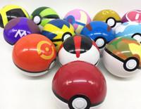 Wholesale Pops Videos - Poke ball 10cm poke Action figures Toys Ultra Master Plastic Poke Ball Pikachu Poke ball Pop-up Master toys KKA799