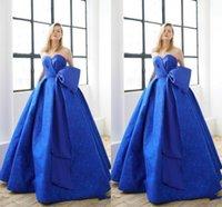 Wholesale Custom Silk Flower Balls - 2018 New Style Blue Prom Dress Women Vestidos De Festa Sweetheart Formal Party Gowns Lace Satin Evening Dresses