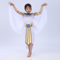 Wholesale Masquerade Queen Costume - Free Shipping 2016 New Children Halloween Cosplay Masquerade Queen Cleopatra Costume For Girls Princess Costume