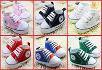 Wholesale Cheap Wholesale Shoes Free Shipping - Cheap toddler baby shoes children spring & autumn shoes 0-18 months BB lace soft bottom canvas shoes free shipping 10pair 20pcs B3