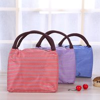 Wholesale Sitting Bags - Stripe Bento Bag Multi Function Portable Waterproof Package High Quality Outdoors Travel Outing Storage Bags 5 23bq J R