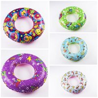 Wholesale Fancy Items Wholesale - Inflatable Fancy Swimming Rings Five Colors Thickened PVC Swim Ring Baby Boys Girls Pool Summer Water Toys Lovely 5 4fj B