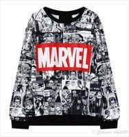 sudadera femenina al por mayor-2016 mujeres calientes de la venta Hoodies Marvel Moletom Hoodie sudadera con capucha Harajuku negro suéter femenino envío gratis