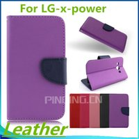 Wholesale Phones For Boost Mobile - For LG X Power Volt 3 K210 K6 K6P Boost Mobile G Stylo 2 Plus ms550 Flip leather wallet stand mobile phone case