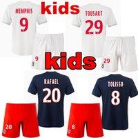 Wholesale Ol Set - 2017 2018 Olympique Lyonnais Kids Sets Soccer Jerseys Uniform 17 18 top Quality Lyon Football Kit OL MENPHIS TOLISSO BUCHANAM Camiseta Shirt