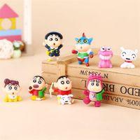 Wholesale Shin Chan Toys - 8pcs lot 3-4cm PVC Crayon Shinchan Figure Toy, Cute Crayon Shin Chan Action Figure Models, Hot Cartoon Anime Brinquedos Kid Toys