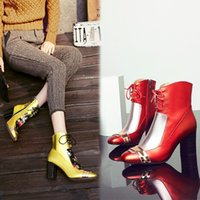 Wholesale Cheongsam Knot - New winter high-heeled boots national wind retro embroidered fashion shoes waterproof best match cheongsam thick Martin boots snow boots