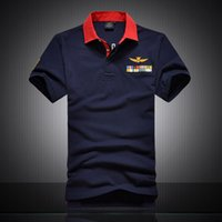 Wholesale Air Force High White - 2016 Summer aeronautica militare camisa masculina polo mens shirt Short sleeve shirts,high quality Air force one shark polos clothing