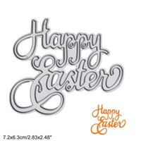 Letter Happy Easter DIY Metal Cutting Dies Stencil Scrapbook Card Album Paper Embossing Crafts