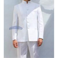 Wholesale Martial Art Chinese Uniform - Wholesale-Mens Vintage Stand Collar Chinese Tunic Kung Fu Suit Jacket Martial Art Uniform 047-2582