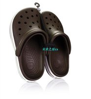 Wholesale Shoe Crocodile Sandals - 2016 free shipping new crocodile leisure fashion men and women sandals garden hole hole shoes, slippers, flat shoes