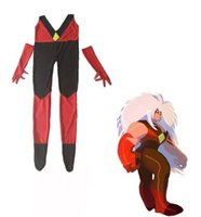 Wholesale funny costumes for females resale online - Steven Universe Jasper Costume Lycra Spandex Zentai Catsuits Superhero Female Cosplay Costume for Adults and Kids Custom