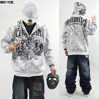 Wholesale Baggy Hoodies - Winter Thick Fleece Hip Hop Men's baggy Hoodie Rhino hooded Coat Male HipHop Pullover Sweatshirt black brand clothing