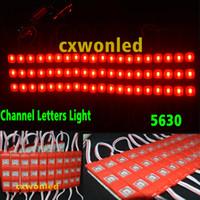blaue led-leuchten zum verkauf großhandel-Heißer verkauf wasserdichte rote led module 5630 3 leds led beleuchtung warm / cool / blau / grün weiß led anzeige beleuchtung 12 v led kanal beleuchtung
