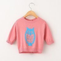 Wholesale Baby Girls Gymboree - Children Sweater New Gymboree Fairy Tale Forest SZ 18 24mos 2T 3T4T 5T Owl Gray Sweater Private Baby Baby Christmas Snowman Sweater Series