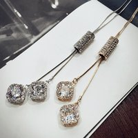 Wholesale Long Wholesale Crystal Necklace - 2016 New Arrival Women Pendant Necklaces Crystal Necklace Female Temperament All-match Long Paragraph Sweater Chain Pendant
