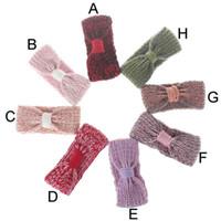 Wholesale Crochet Baby Wear - New Crochet Kids Earwear Baby Girls Winter Wear Knit Kids Hair Accessory Woven Baby Earwarmer Birthday Kids Headband