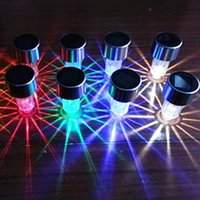 Wholesale Energy Caps - Stainless steel solar lights charged with colorful thin rod cap lamp Solar energy lawn lamp landscape lamp