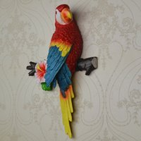 Wholesale European Style Garden - European-style garden resin crafts three-dimensional wall hangings parrot wall TV background wall creative home decorations Parrot Wall Deco