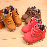 Wholesale Waterproof Boots For Girls - 2016 Autumn Winter New Arrival Ankle Children Shoes For Boys And Girls Martin Boots Single boots Waterproof Boots Fashion Kids Shoes