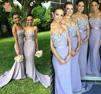 Wholesale Long Bridesmaid Dress Floral - 2016 Mermaid Long Bridesmaid Dresses Sweetheart with 3D Floral Flower Spring Maid of Honor Gowns Court Train Formal Wedding Party Dresses