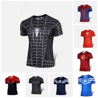 Wholesale Sleeves Spider - 2016 chivalry Europe and the United States black venom spider-man T-shirt Male personality childe shirt with short sleeves
