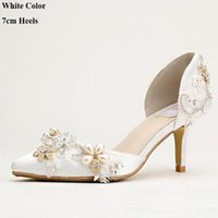 spring flower individual - 2016 individual character beautiful white satin shoes fashionable woman pointed toe shoes bride wedding shoes comfortable high heels