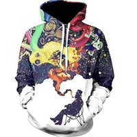 Wholesale Cartoon Characters Sweaters - Man Hoodie Sweatshirt Sweater New Fall Fashion Casual Hoodie Cartoon 3D Digital Printing Hooded Sweatshirt Sweater