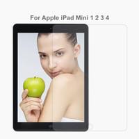 Wholesale new ipad screen protector - Premium Tempered Glass Screen Protector For Apple New iPad air Pro 5 6 mini 1 2 3 4 Toughened Protective Film 9.7 10.5 12.9 No retail pack