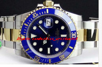 Wholesale file tags for sale - Group buy Top Quality Luxury Watches Sapphire mm Blue Index Dial Automatic Sport Mens Watch Men s Wrist Watches Original Box File