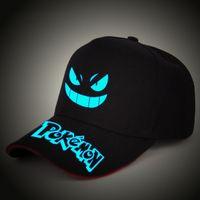 pokemon gorra de béisbol al por mayor-Poke LED Light sombrero sombreros de fiesta Poke Boys y Grils Cap Gorras de béisbol Fashion Luminous Adjustment Tamaño para adulto kid