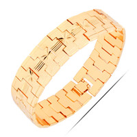Wholesale Bangles Nickel Free - Wholesale-RGP B365 2016 New Arrival Gold Bracelets & Bangles 18K Real Gold Plated High Quality Cute Jewelry Nickel Free Luxury Jewelry