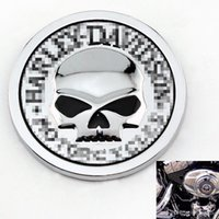 Wholesale Motorcycle Mirror Silver - 2016 Hot Sale HARLEY DAVIDSON MOTORCYCLES Skull Bone Car Motorcycle Auto Chrome Silver 3D Metal Emblem Badge Decal Sticker
