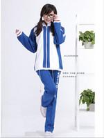 anime kleidung freies verschiffen großhandel-Freies Verschiffen! Der Prinz Des Tennis Anime COSPLAY Kleidung Cos Anzug Schule Kleidung Herbst Kleidung Grüne Stelle