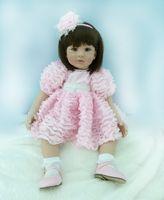 "Wholesale China Vinyl - Adora Girly Girl Dark Brown Hair with Brown Eyes 22"" Baby Doll Lovely Reborn Baby Girls Brinquedos"