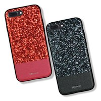 Wholesale iphone case rhinestone retail - For iPhone X Rhinestone Glitter Case Luxury Lightweight Bling Full Protective Cover for iPhone 8 7 6s plus Samsung Note8 s8 plus Retail box