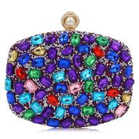 Wholesale cheap handbags for ladies - Diamond Evening purses clutch handbags purses ladies handbags party purses for women silver evening bags clutches cheap