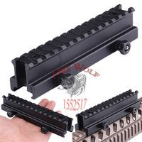 "Wholesale Rifle Riser - Tactical Hunting Aluminum Airsoft 3 4""Flat-Top See Through Riser Rifle Mount Base 20mm Picatinny Weaver Rail Mount"