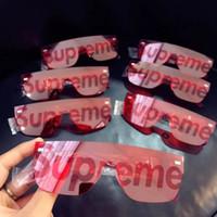 Wholesale Mask Mix - Sup x famous sunglasses Fashion Designer Red Black City Mask Sunglasses Brands MIX design Sunglass cool unisex Sunglasses Brand New with Box