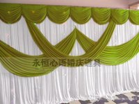 Wholesale Cheap Wedding Curtains - High Quality Wedding Backdrop Curtain Angle Wings Sequined Cheap Wedding Decorations 6m*3m Cloth Background Scene Wedding Decor Supplies