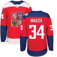 maillot orange 83 achat en gros de-Coupe du monde de hockey sur glace 2016: République tchèque Maillot 33 Nakladal 34 Mrazek 83 Hemsky 30 Neuvirth 64 Polak 2 Michalek 62 Sustr N'importe quel nom de numéro