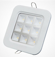 Wholesale Kitchen Ceiling Grille - Factory Wholesale Price square 9*1W recessed Led Grille Led ceiling light Led down light Led lattice light,size:150mm*150mm