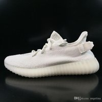 ORIGINALI KANYE WEST BOOST 350 V2 CP9366 CREMA BIANCO CORE BIANCO TRIPLA BIANCO FLUORESCENTE 14 COLORI MENS SCARPE RUNNING DROP SHIPPING