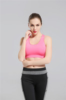 Wholesale womens fitness clothing - 2017 Hot Pink Yoga Bra Fashion Quick Dry Sportswear Womens Tops Fitness yoga sports bra Gym Clothes Free Drop Shipping sunnee