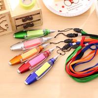 Wholesale Wholesale Pens Pads - Cute Kawaii Plastic Ballpoint Pen Creative Light Ball Pen With Memo Pad Kids Gift Korean Stationery Free Shipping