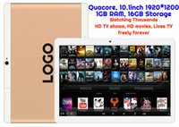 1pcs por encargo TV Android Tablet TV viendo miles de películas de alta definición y TV HD muestra MTK Quadcore 1GB 16 GB 10.1inch HD 3G WIFI Bluetooth GPS